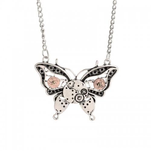 SteamPunk náhrdelník Motýl