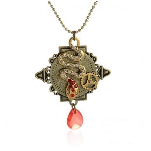 SteamPunk náhrdelník Drak