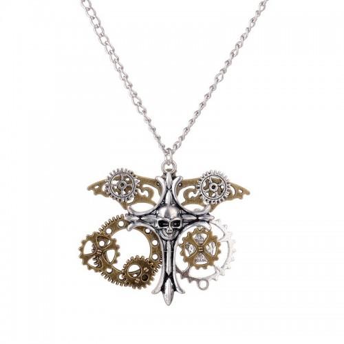SteamPunk náhrdelník Hrudník Kosti