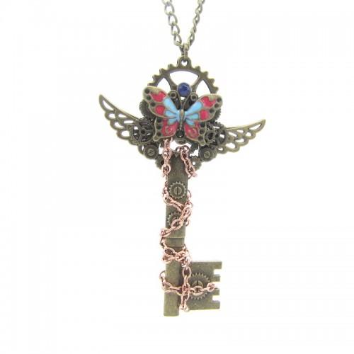 SteamPunk náhrdelník Klíč