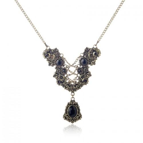 SteamPunk náhrdelník Motýl v4