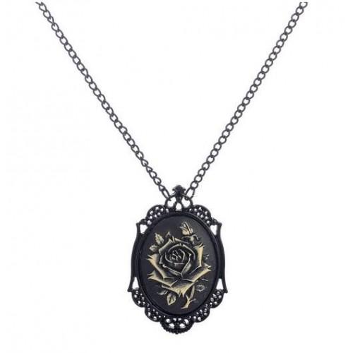 SteamPunk náhrdelník Černá vdova