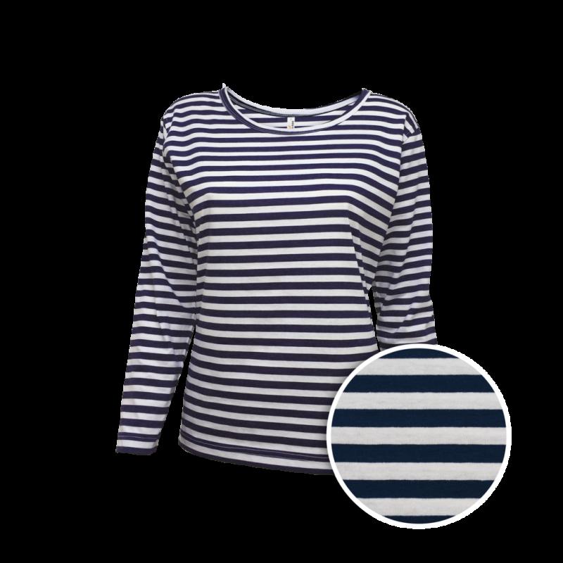 Vodácké námořní pruhované tričko dámské dlouhé 48e9b99687