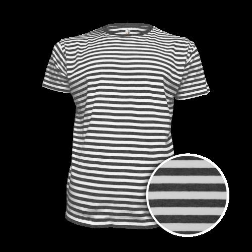 Pruhované tričko Bílo-černé AF- pánské