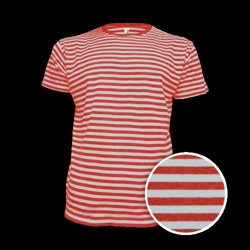 Pruhované tričko Bílo-Červené dirk- pánské