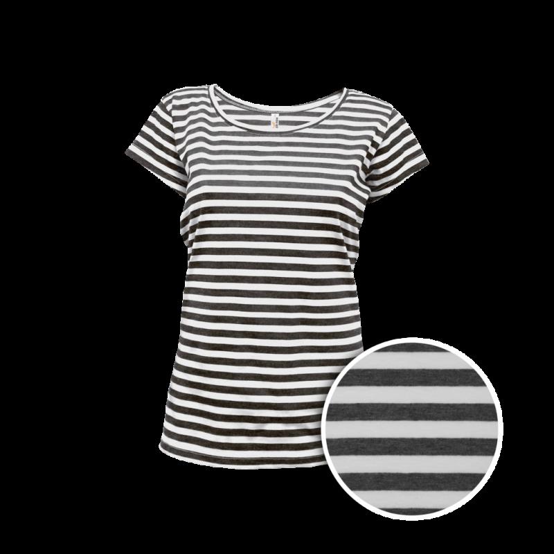 Pruhované tričko Bílo-černé Anne - dámské