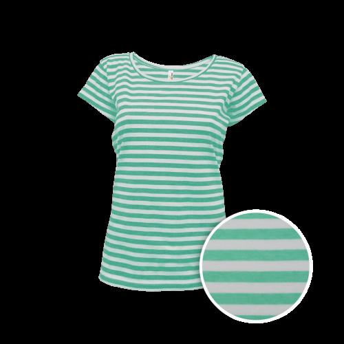 Pruhované tričko Bílo-Zelené AF- dámské