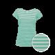 Pruhované tričko Bílo-Zelené Anne - dámské