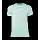 Pruhované tričko Bílo-Zelené dirk- pánské