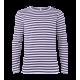 Pruhované tričko dlouhe Bílo-Modré - pánské