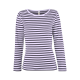 Pruhované tričko dlouhe Bílo-Modré - dámské