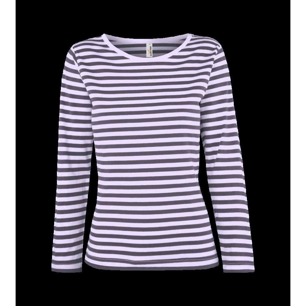 07619827f979 ... Pruhované tričko dlouhe Bílo-Modré - dámské ...