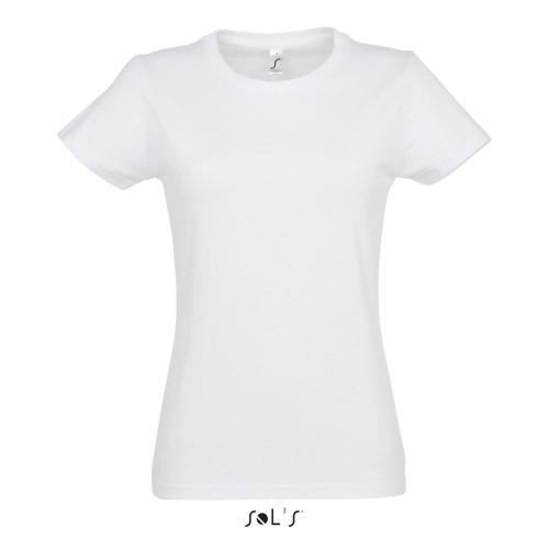 Jednobarevné bílé tričko - dámské