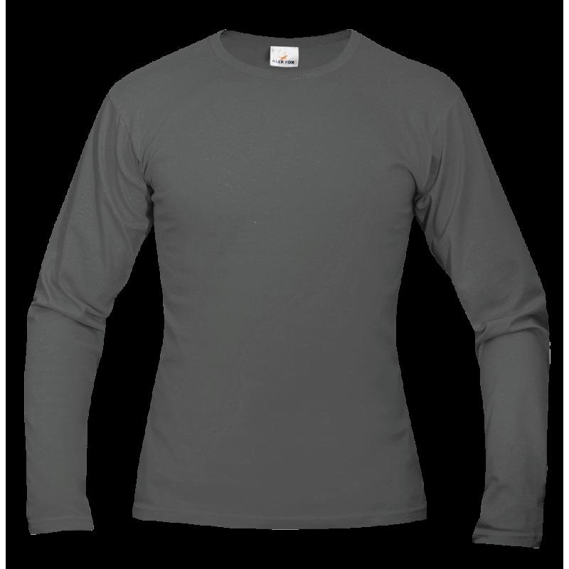 Tričko pánské AF long dlouhé - Kovově šedá 06af574775