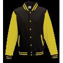 Baseball pánská bunda - Žluto-černá