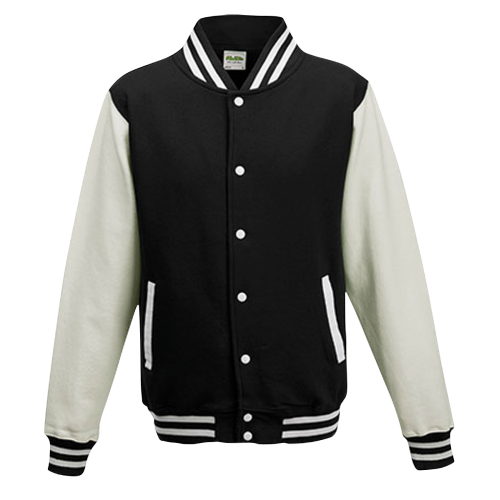 Baseball pánská bunda - Bílo-černá