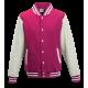 Basketball pánská bunda - Růžovo-bílá