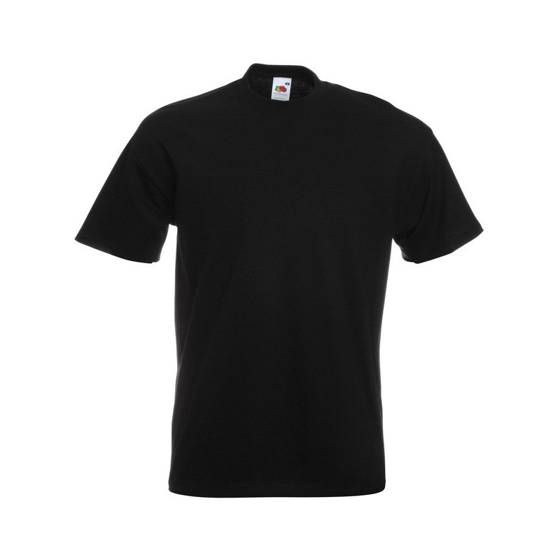 Jednobarevné černé tričko Fruit of the Loom - pánské