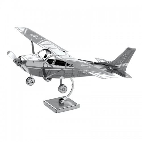 3D ocelová skládačka letadlo Cessna 172 Skyhawk