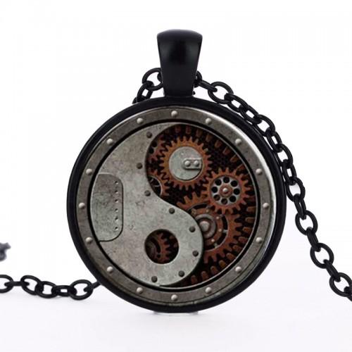 Převody, ozubená kola steampunk náhrdelník