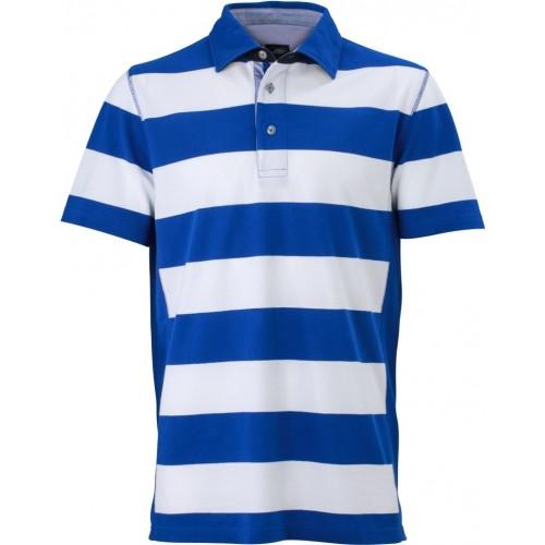 Pruhované tričko Bílo-světle modré James & Nicholson - pánské
