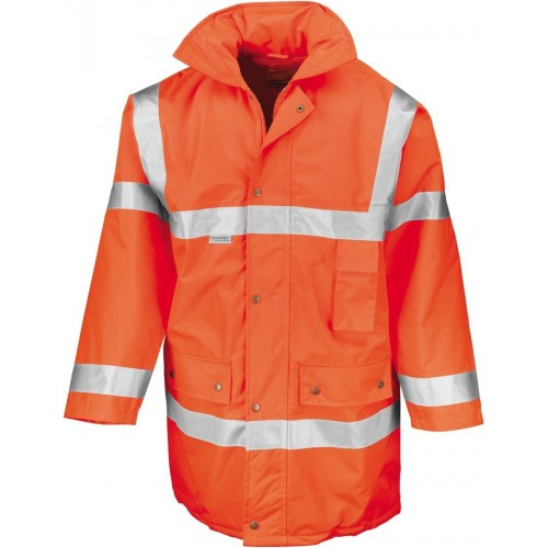 Bezpečnostní bunda oranžová EN 471