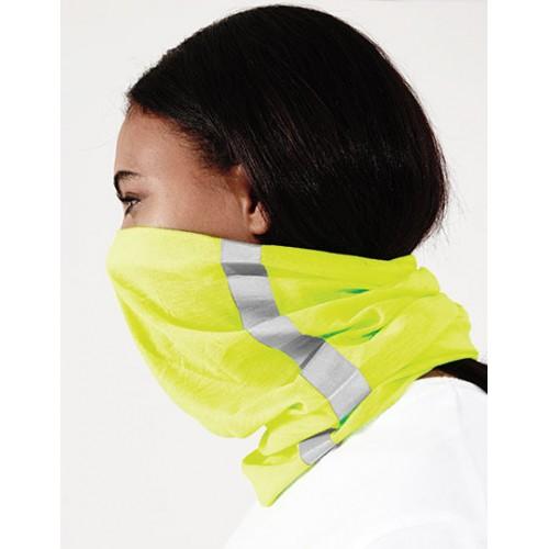Multifunkční reflexní šátek žlutý