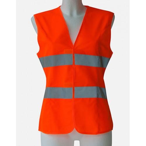 Dámská Bezpečnostní vesta EN ISO 20471 oranžová