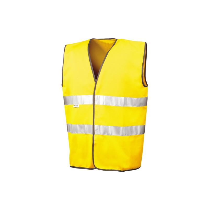 Bezpečnostní vesta pro motoristy ISOEN20471:2013 - žlutá