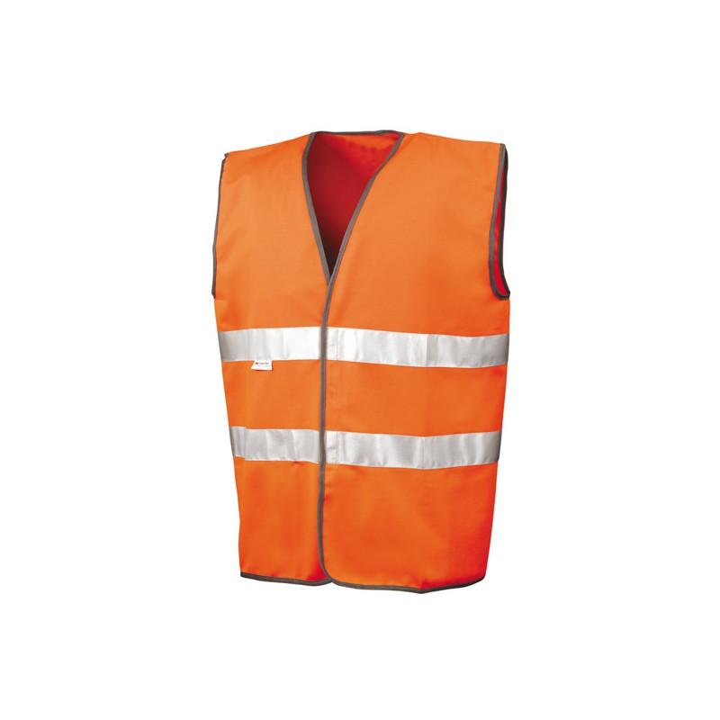 Bezpečnostní vesta pro motoristy ISOEN20471:2013 - oranžová