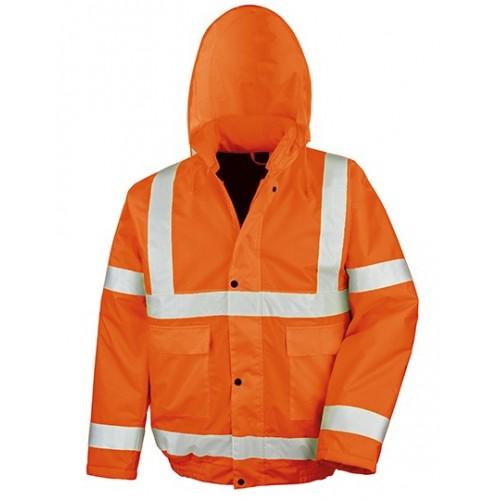 Reflexní zimní bunda oranžová High Viz Winter Blouson