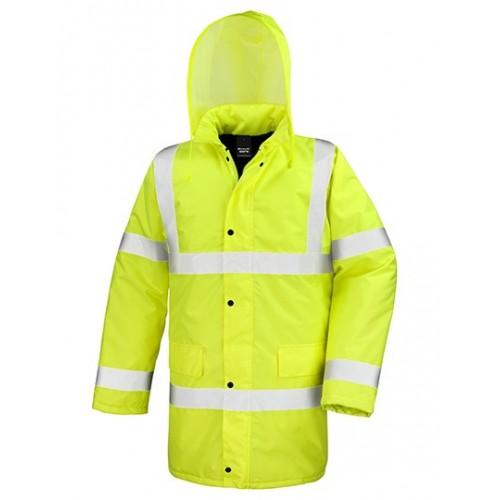 Reflexní kabát pro motoristy - žlutá