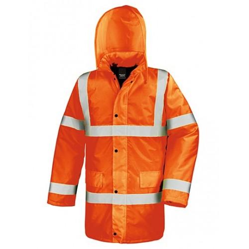 Reflexní kabát pro motoristy - oranžová