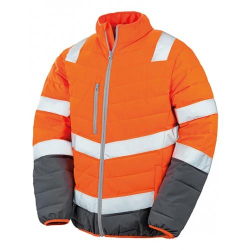 Pánská měkká polstrovaná bezpečnostní bunda - oranžová