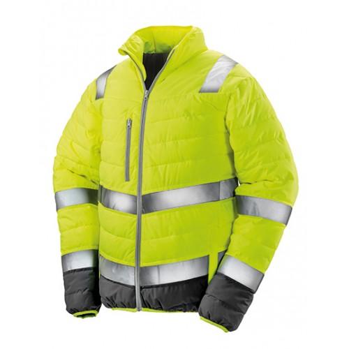 Pánská měkká polstrovaná bezpečnostní bunda - žlutá