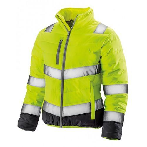 Dámská měkká polstrovaná bezpečnostní bunda - žlutá