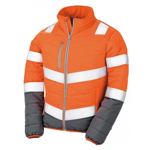 Dámská měkká polstrovaná bezpečnostní bunda - oranžová