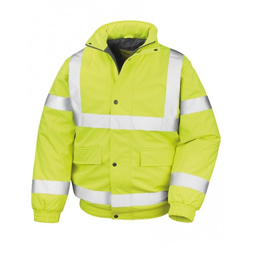 Měkká polstrovaná bezpečnostní bunda Result - žlutá