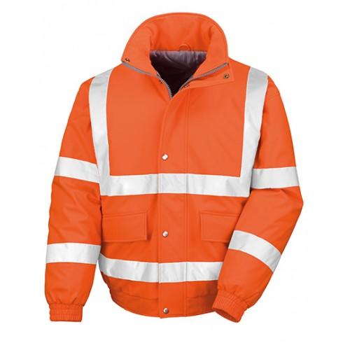 Měkká polstrovaná bezpečnostní bunda Result - oranžová