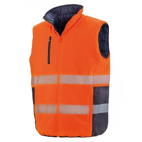 Měkká polstrovaná bezpečnostní vesta - oranžová
