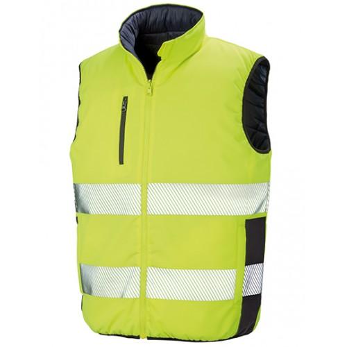 Měkká polstrovaná bezpečnostní vesta - žlutá