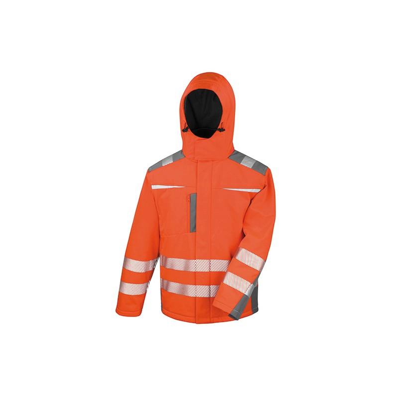 Reflexní Softshell kabát - oranžová