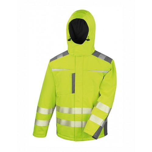 Reflexní Softshell kabát - žlutá