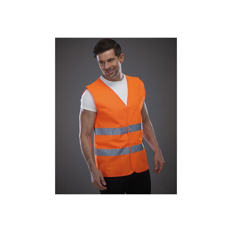 Bezpečnostní vesta Hi Vis 2 EN ISO 20471 oranžová