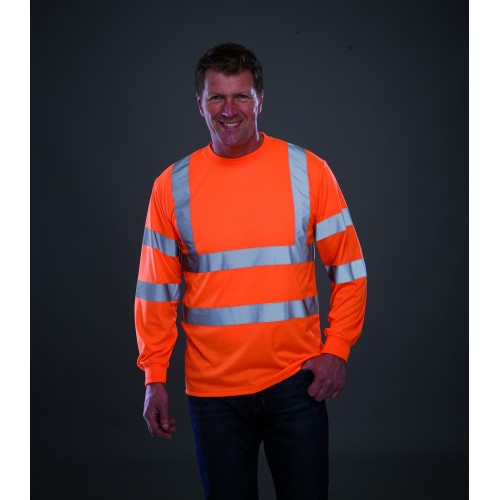 Tričko Hi Vis Long Sleeve T-Shirt oranžová
