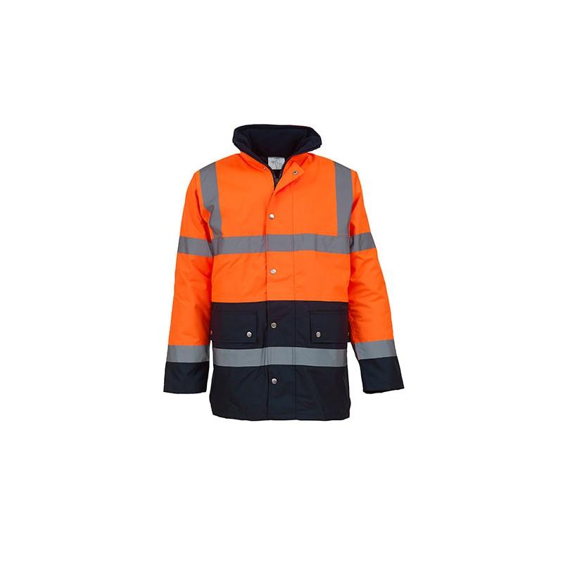 Reflexní bunda na motorku EN343 Třída 3.1 oranžová