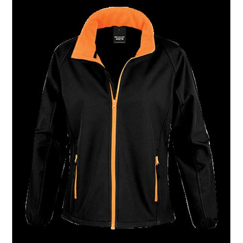 Dámská Softshell Nebrask - Černá/oranžová