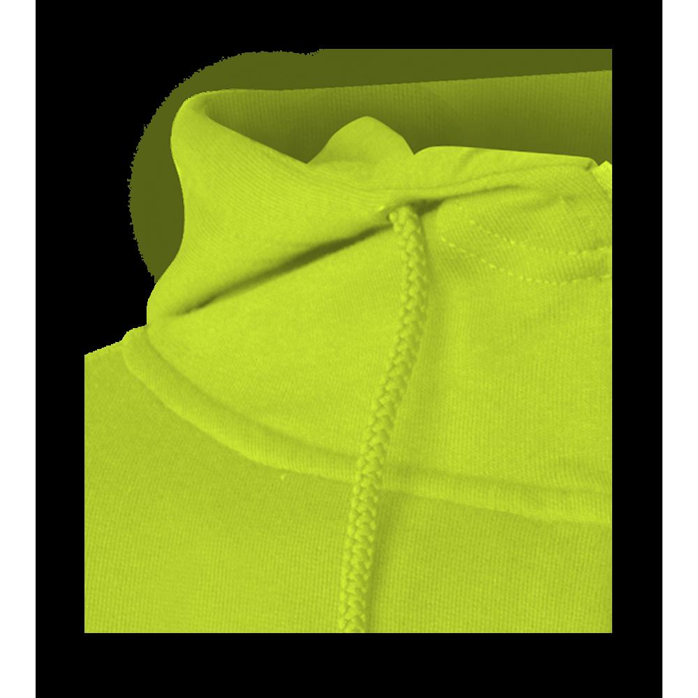 cef85bf34b0 Pánská mikina Hooded - Limetkově zelená