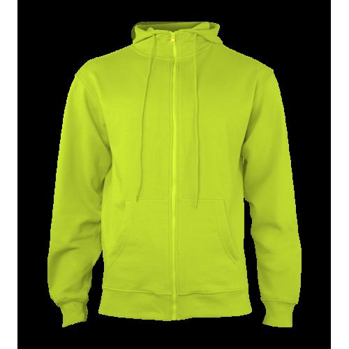 Pánská mikina Hooded - Limetkově zelená