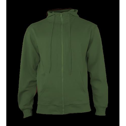 Pánská mikina Hooded - Džungle zelená